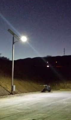 Poste Solar 50W Lumlight LED
